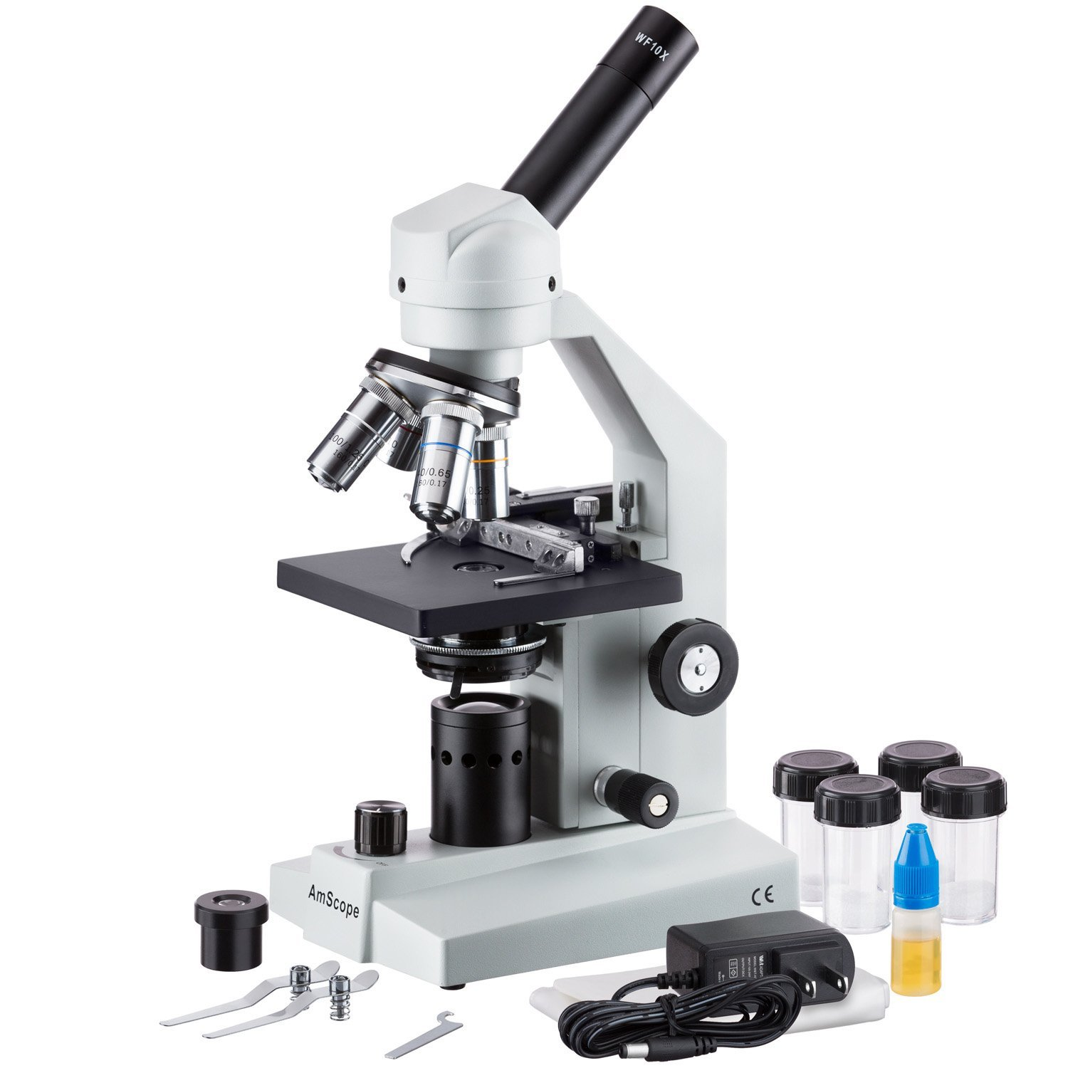 AmScope M500B-MS-LED Monocular Compound Microscope