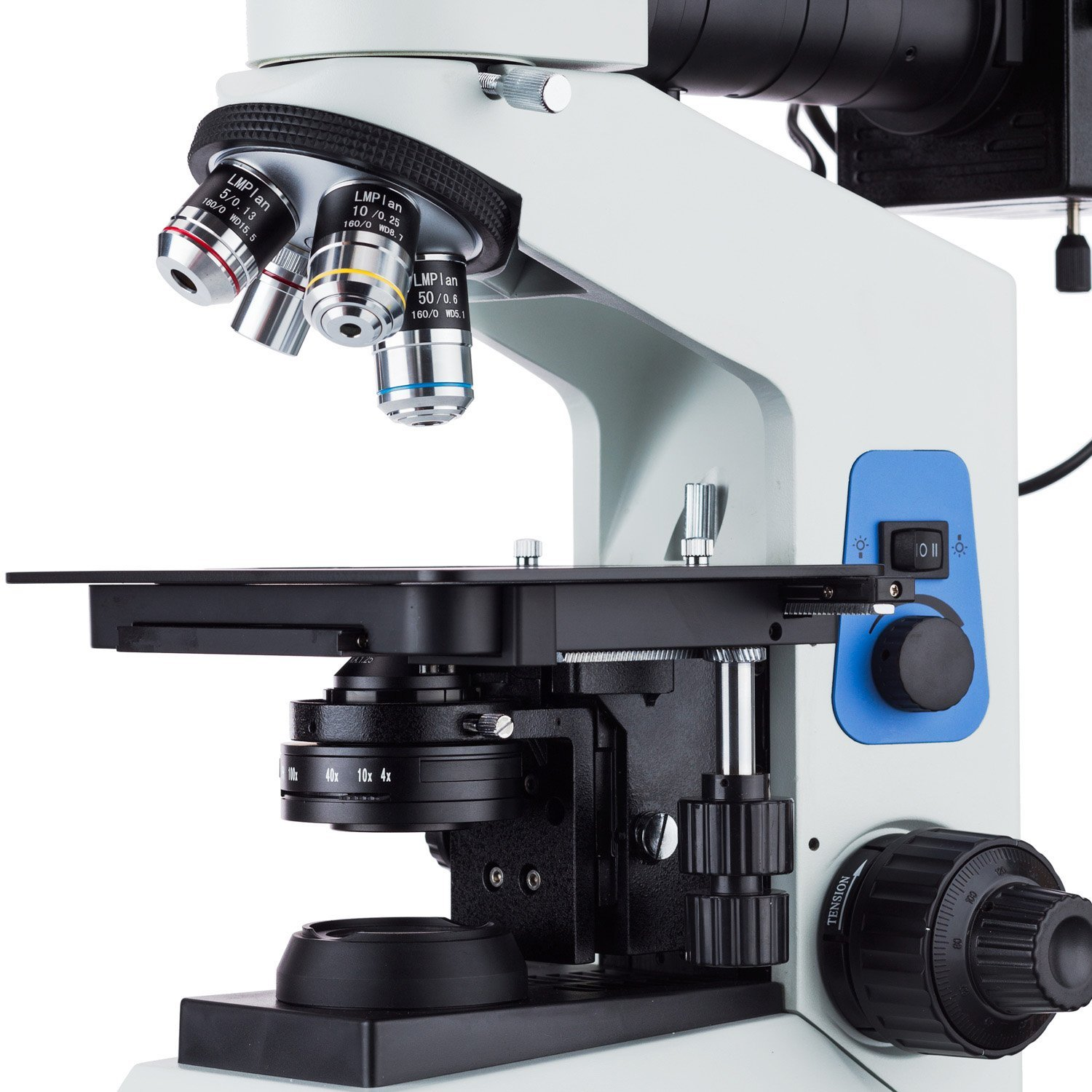 AmScope 40X-800X Polarizing Metallurgical Microscope