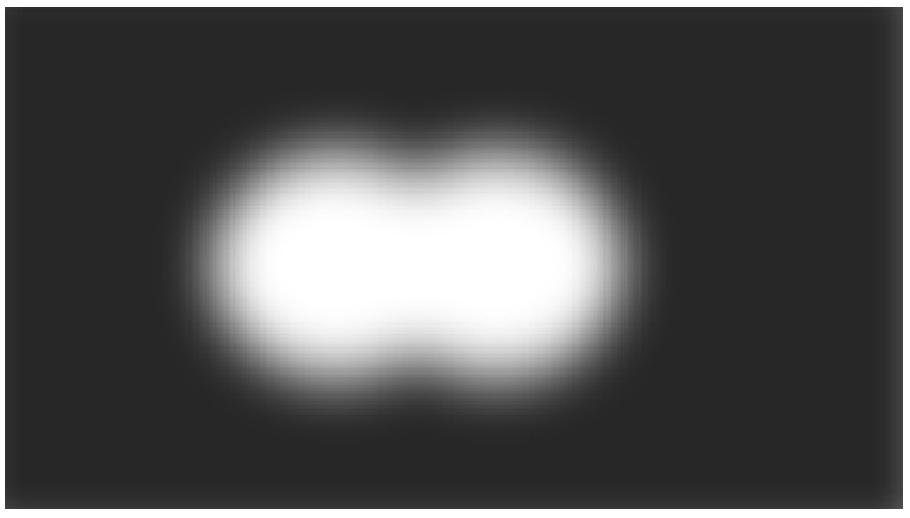 Diffraction Limit: Image showing two points that are blurred due to diffraction limitations of a light microscope